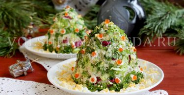 "Новогодний салат ""Ёлки"""