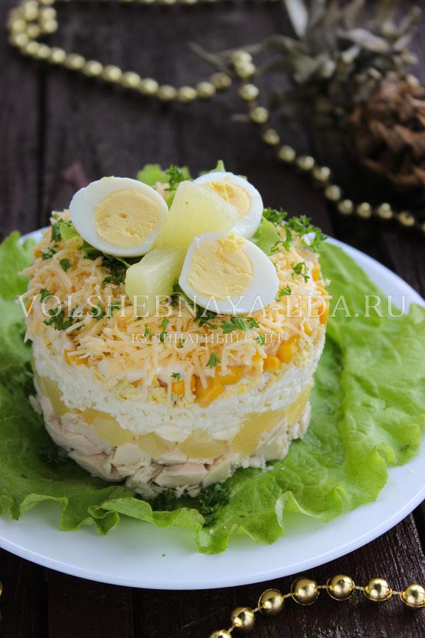 salat s ananasami kuricej syrom i yajcom 12