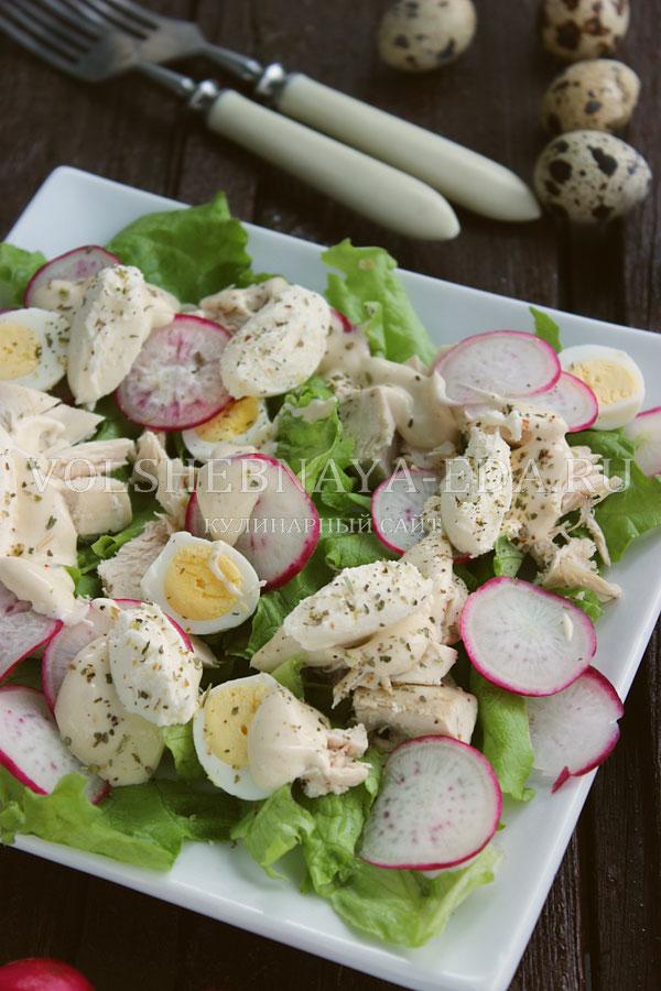 salat s kuricej i perepelinymi yajcami 11