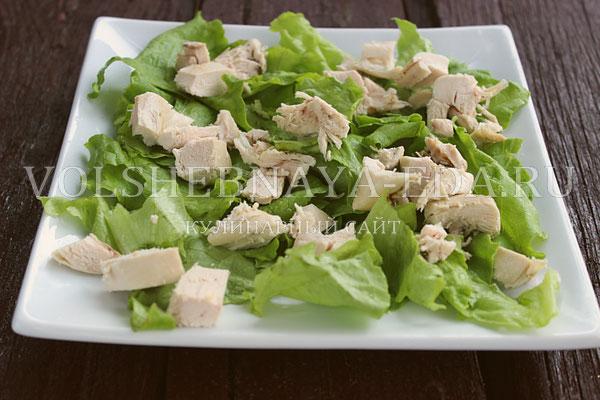 salat s kuricej i perepelinymi yajcami 2