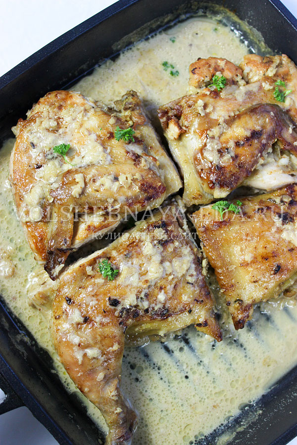 Цыпленок чкмерули рецепт