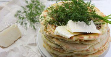 Хычины с сыром и картофелем