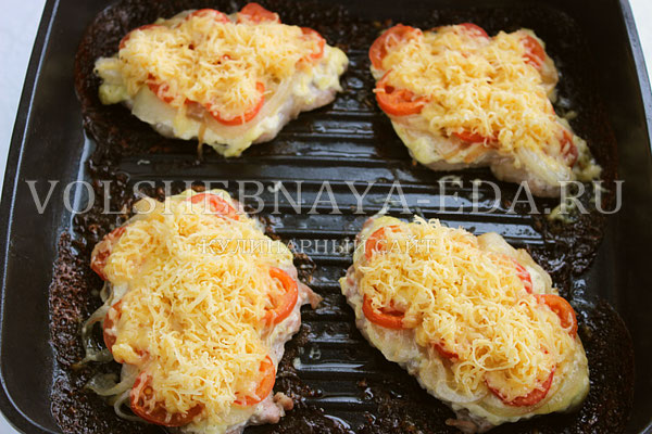 svinina s pomidorami i syrom 7