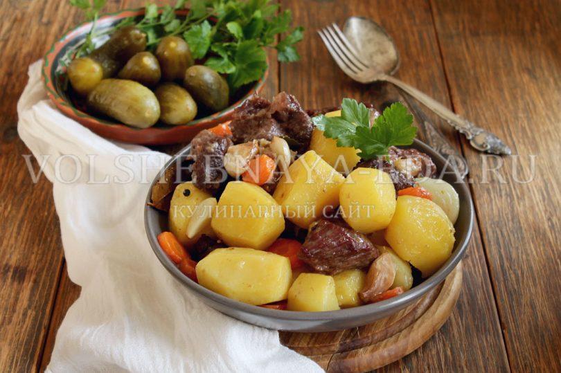 """Картошка с мясом в """"рукаве"""""""
