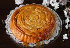 Шотландский спиральный пирог с карамелью