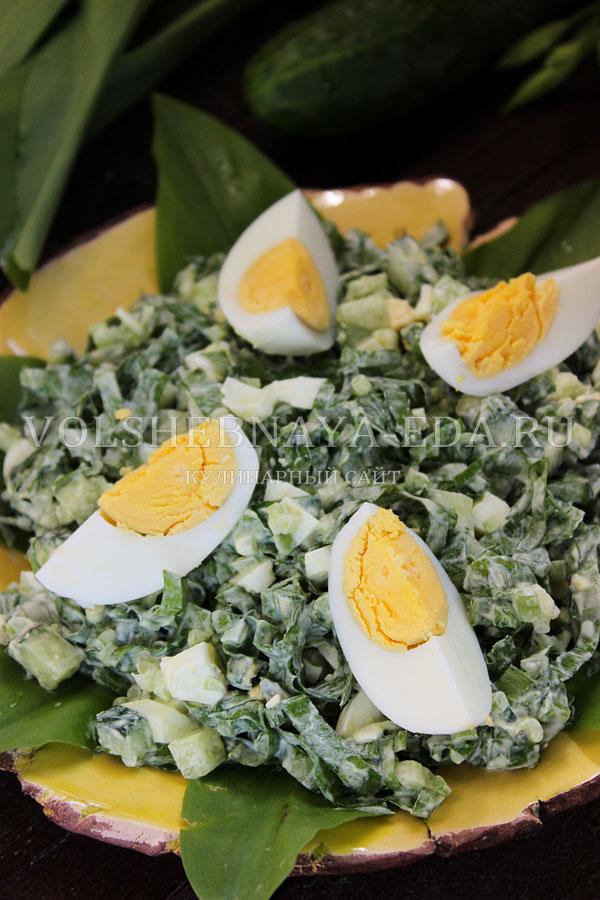 salat s cheremshoj yajcom i ogurcom 11