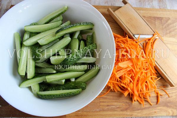 salat iz ogurcov po korejski 1