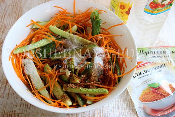 salat iz ogurcov po korejski 2