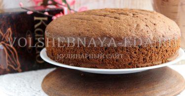 Шоколадный бисквит с какао