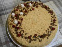 Торт Медовик со сливочно-сметанным кремом и лимонной пропиткой, пошаговый рецепт с фото