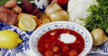 как готовить украинский борщ