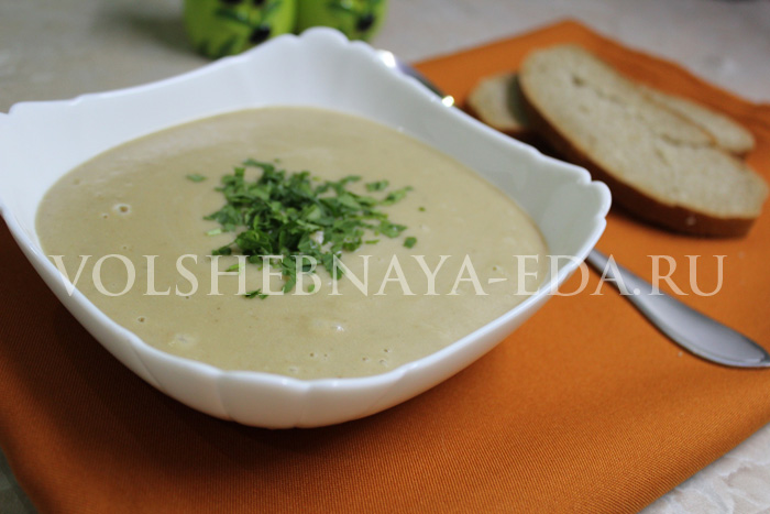 Грибной суп-пюре со сливками