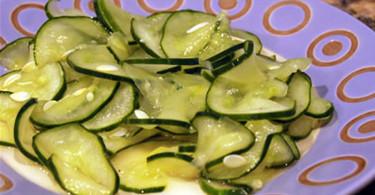 Огуречный салат по-норвежски