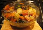Овощи с розмарином