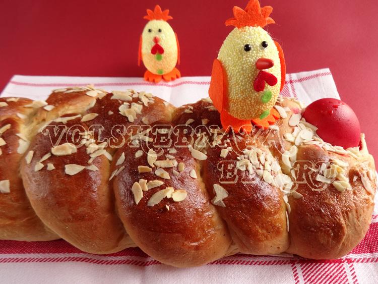 Цуреки греческий пасхальный хлеб