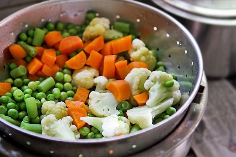 как приготовить овощи на пару
