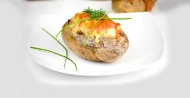 рецепт картофеля фаршированного сыром