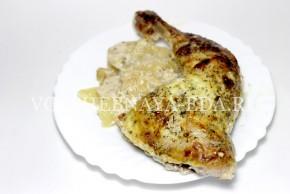 Куриные ножки в духовке с картофелем--8
