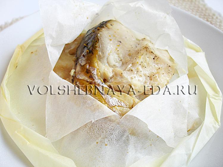 Как приготовить рыбу в пергаменте рецепт с фото