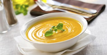 Тыквенный суп с манго