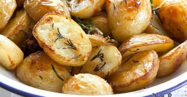 рецепт картофеля запеченного с кожурой