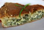 рецепт пирога со шпинатом