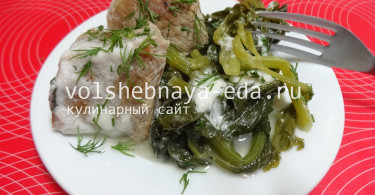 Свиное фрикасе по-гречески