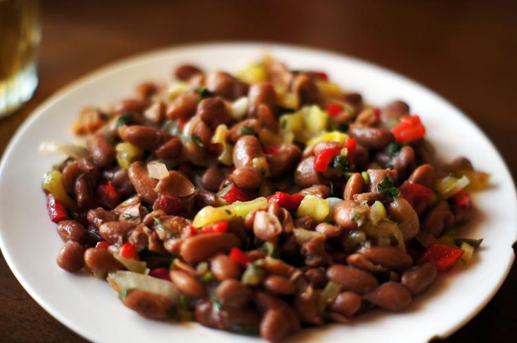 Рецепт салата с фасолью лобио изоражения