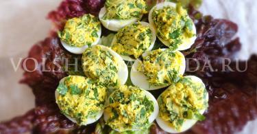 рецепт фаршированный яиц с рукколой
