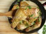Куриные окорочка в сметанно-горчичном соусе