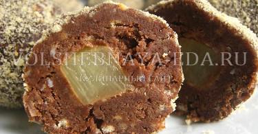 рецепт шоколадных конфет с начинкой