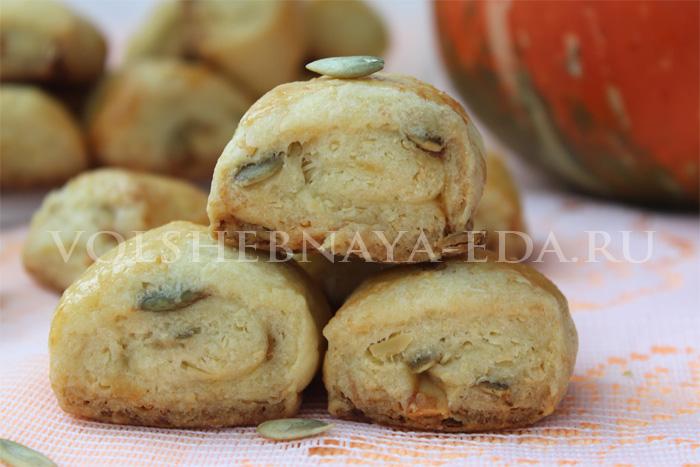 Печенье из пшённой муки и тыквенных семечек - рецепт пошаговый с фото
