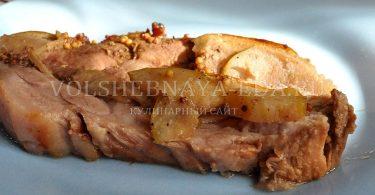 Свинина в грушах рецепт с фото