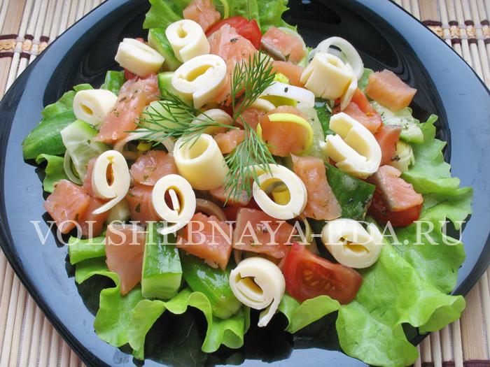 Салат с красной рыбой: шаг 9