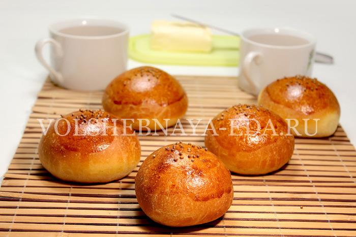 горчичные булочки к утреннему чаю