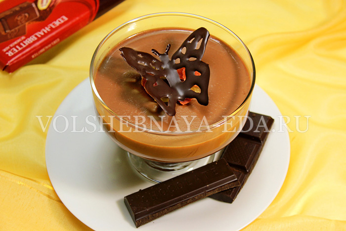 Шоколадная панна котта готова