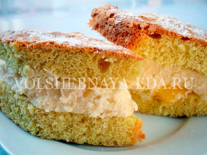 Творожный крем в рецепте торта