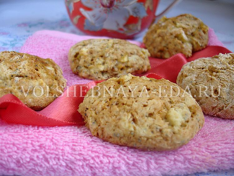 Печенье с яблоком и маком