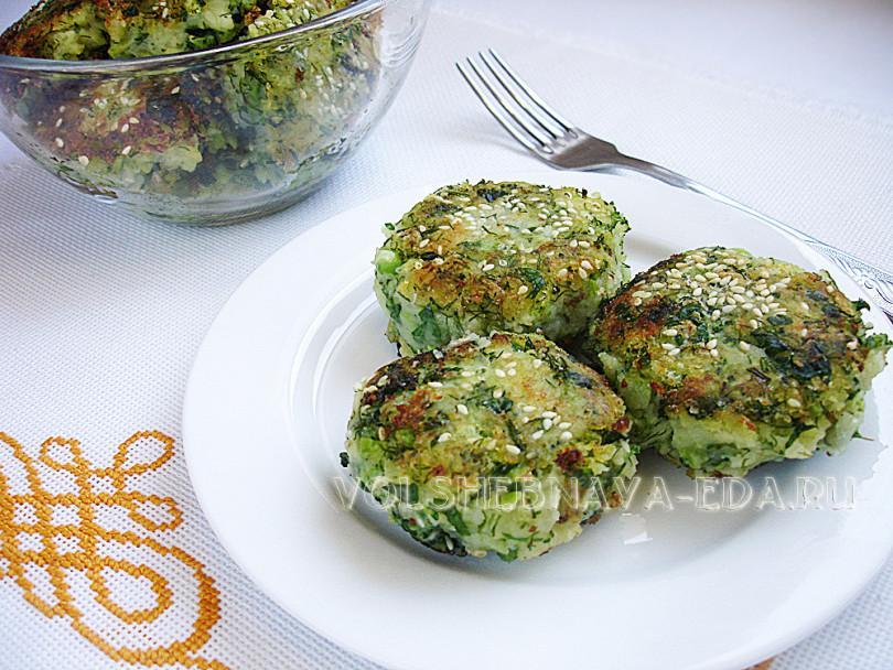 Крокеты из брокколи рецепт с фото