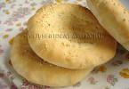 Лепешка с кунжутом постная рецепт с фото