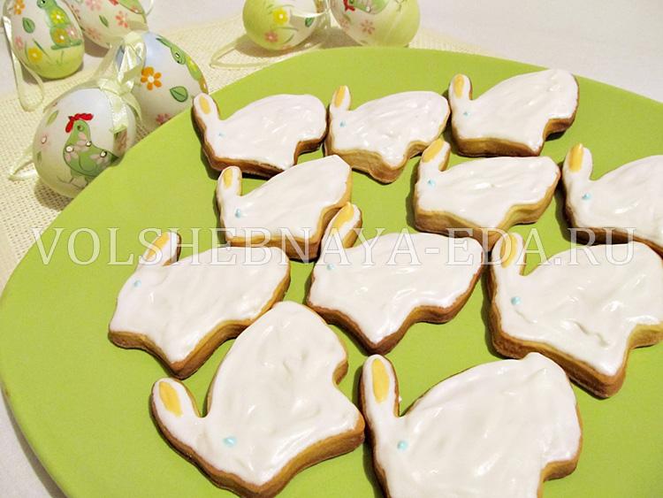 Пасхальный заяц - печенье для детей