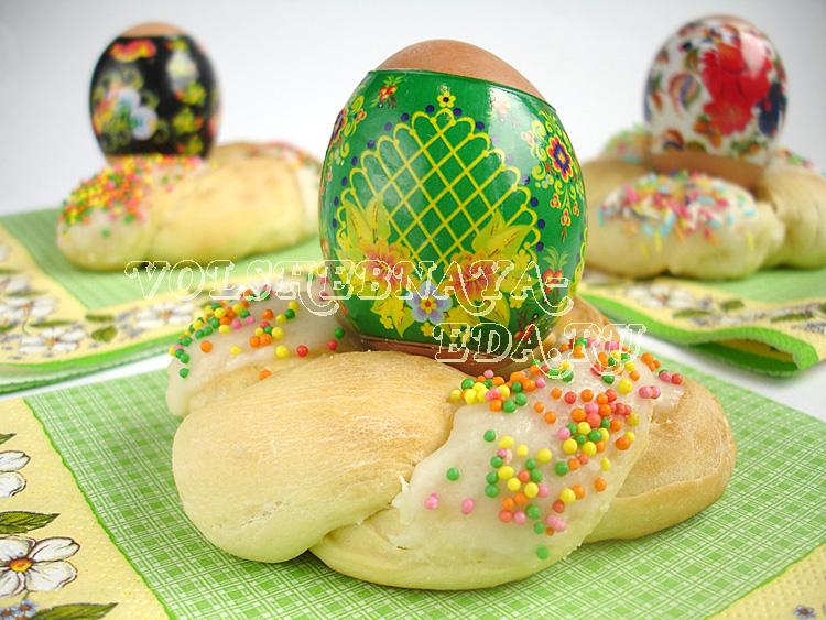 Пасхальный венок для яиц рецепт с фото