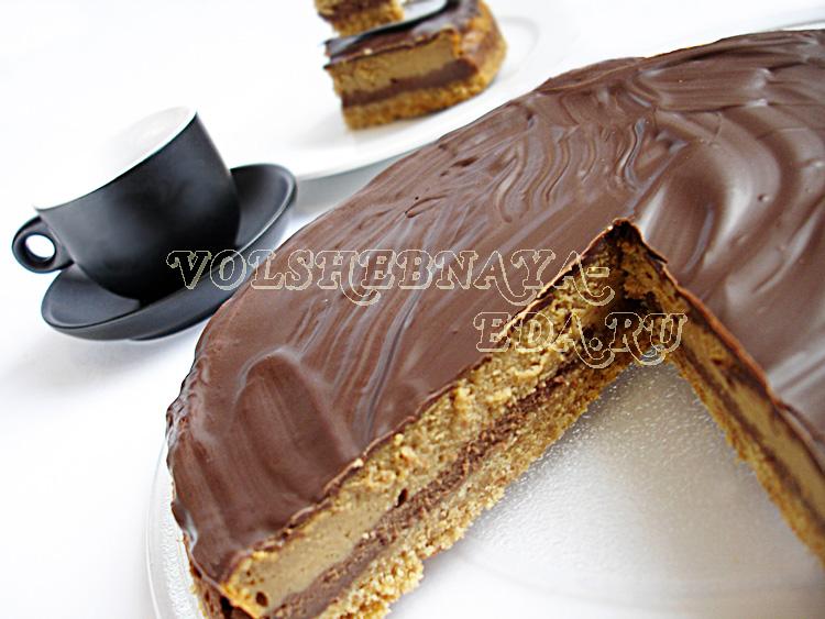 Шоколадно-кофейный чизкейк рецепт с фото