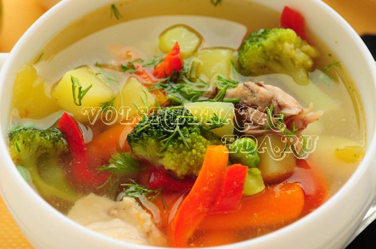 Суп из кролика и овощной смеси