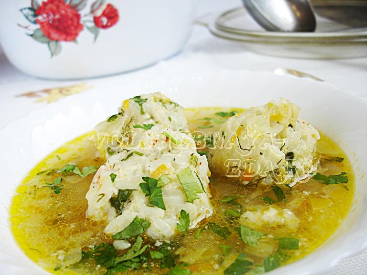Суп с рисовыми фрикадельками рецепт с фото
