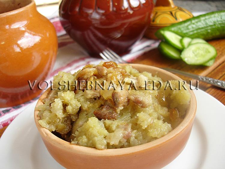 Картофельная бабка рецепт с фото