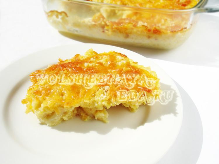 Запеканка из цветной капусты с сыром рецепт с фото