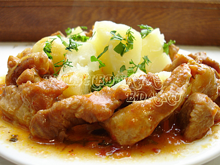 Поджарка из свинины рецепт с фото