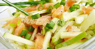 салат из семги слабосоленой рецепт с фото