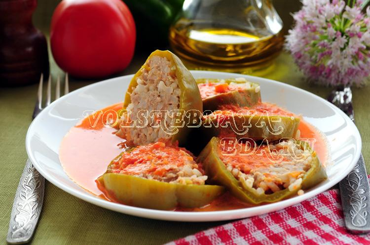 Фаршированный перец в мультиварке рецепт с фото